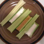 Celery with goat cheese